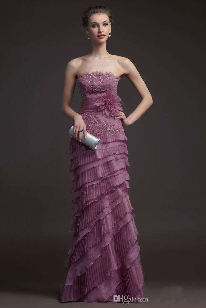 Plus Size Purple Mother Of The Bride Dresses With Free Jacket Lace Appliques A-Line Formal Evening Gowns Flowers AW13
