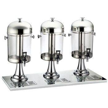 Нержавеющая сталь трёхголовочный диспенсер для сока коммерческий буфет машина для молочных Напитков Автомат для подачи холодных напитков ...
