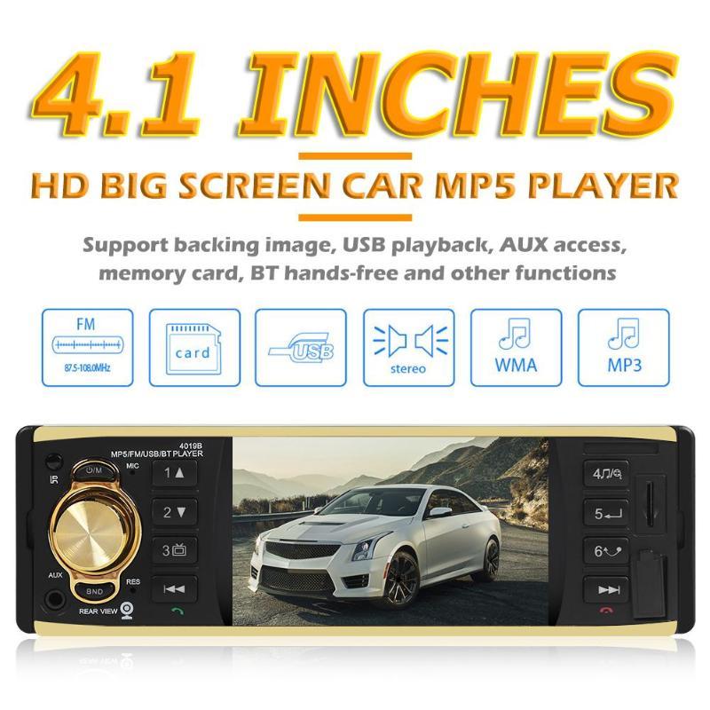 Nouveau 4019B Bluetooth autoradio lecteur MP5 4.1 pouces AUX USB unité de tête Radio (D) inversion de l'image livraison directe