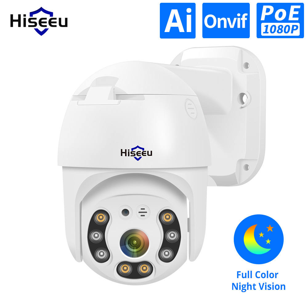 Ip-Camera Poe-Nvr-System Poe Ptz Hiseeu ONVIF Waterproof H.265 Outdoor 2MP 4x-Digital-Zoom