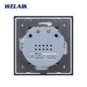 Image 5 - WELAIK Manufacture EU 1gang1way Wall Touch Switch Crystal Glass Panel Switch Wall Intelligent Switch Light Smart Switch  A1911CW