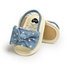 Sandals Shoes Toddler Newborn Girl Infant Princess Bow Fashion Cotton Polka-Dot