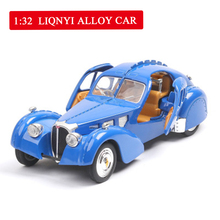 1:28  Big Size Simulation Bugatti Classic Long Shark Alloy Car Collection Model with Sound Light Pull Back Boy Toy