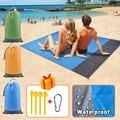 Плед для кемпинга водонепроницаемый, пляжное одеяло, матрас с заземлением для улицы, карманный ковер для пикника, портативный складной ковр...