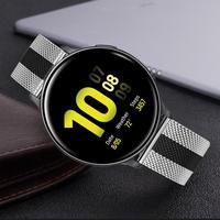 Миланский ремешок для часов samsung Galaxy Watch Active 2 40 мм 44 мм быстросъемный ремешок из нержавеющей стали
