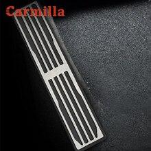 Carmilla 1 sztuk pedał spoczynkowy pokrywa dla Jaguar XFL FTYPE F TYPE XJ XF XE F PACE FPACE dla Land Rover Discovery Range Rover Evoque