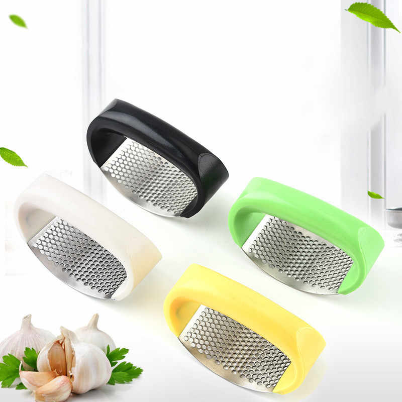 1Pcs Stainless Steel Bawang Manual Bawang Putih Grinder Parutan Jahe Press Dapur Aksesoris Bawang Putih Chopper