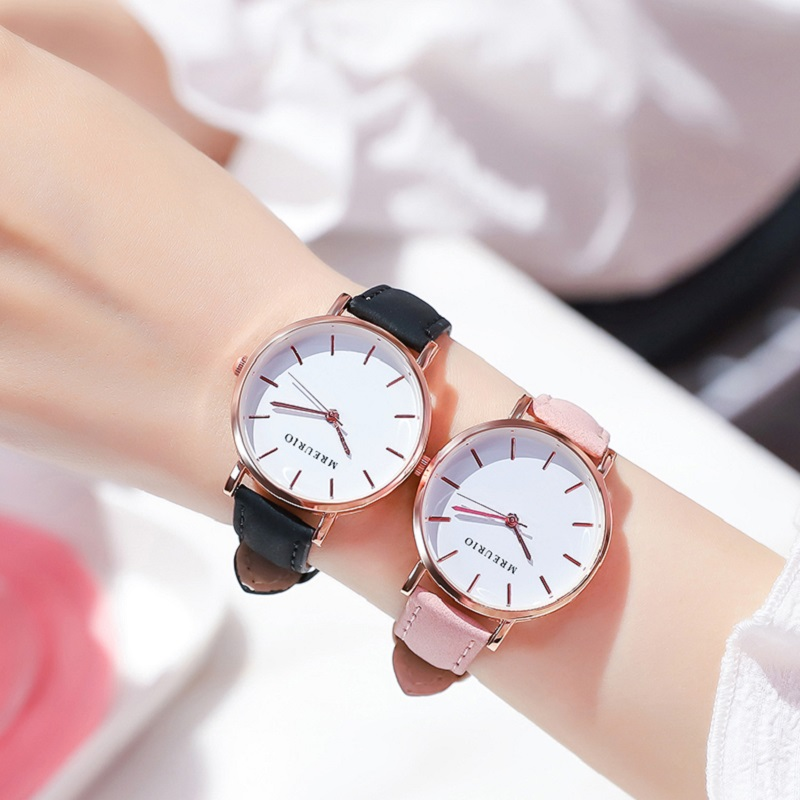 Часы наручные женские ультратонкие, минималистичные кварцевые с кожаным ремешком, толщина 7,5 мм, модный подарок для студенток