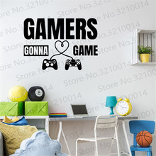 Gamer wall decal Birthday Gifts Eat Sleep Game Controller video wall decals Kids Bedroom Vinyl Wall Art Decal PW225 gamer wall decal eat sleep game controller video game wall sticker for bedroom vinyl decals mural wall decor wallpaper pw206