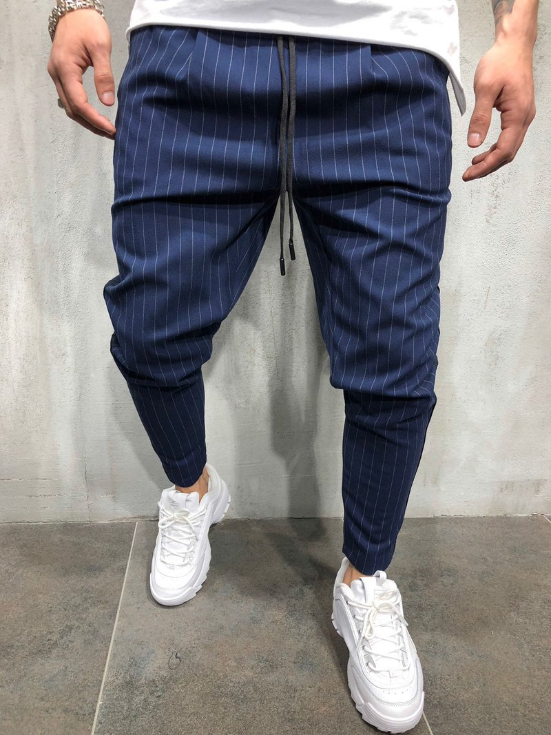 'Casual Fashion Small Leg Tether Slim Fit Men Business Suits Office Work  Pants