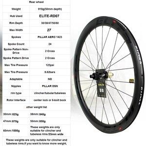 Image 3 - Elite ent disco freio de carbono rodas 700c uci qualidade bicicleta de estrada rodado de carbono com bloqueio central ou 6 blot bock estrada ciclismo