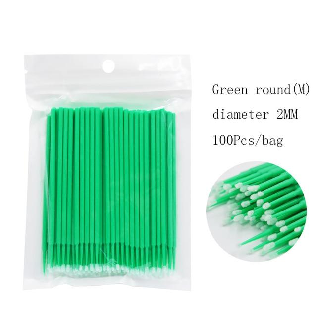 100pcs/lot Durable Micro Disposable Eyelash Extension Individual Applicators Mascara Brush Eyelash Glue Cleaning Tool 5