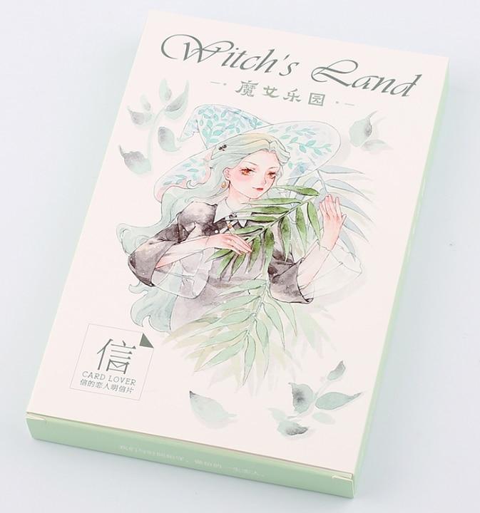 14.3cm*9.3cm Magic Girl Paper Postcard(1pack=30pieces)