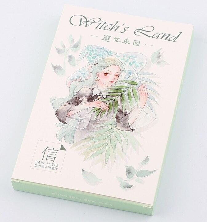 P65- Magic Girl Paper Postcard(1pack=30pieces)
