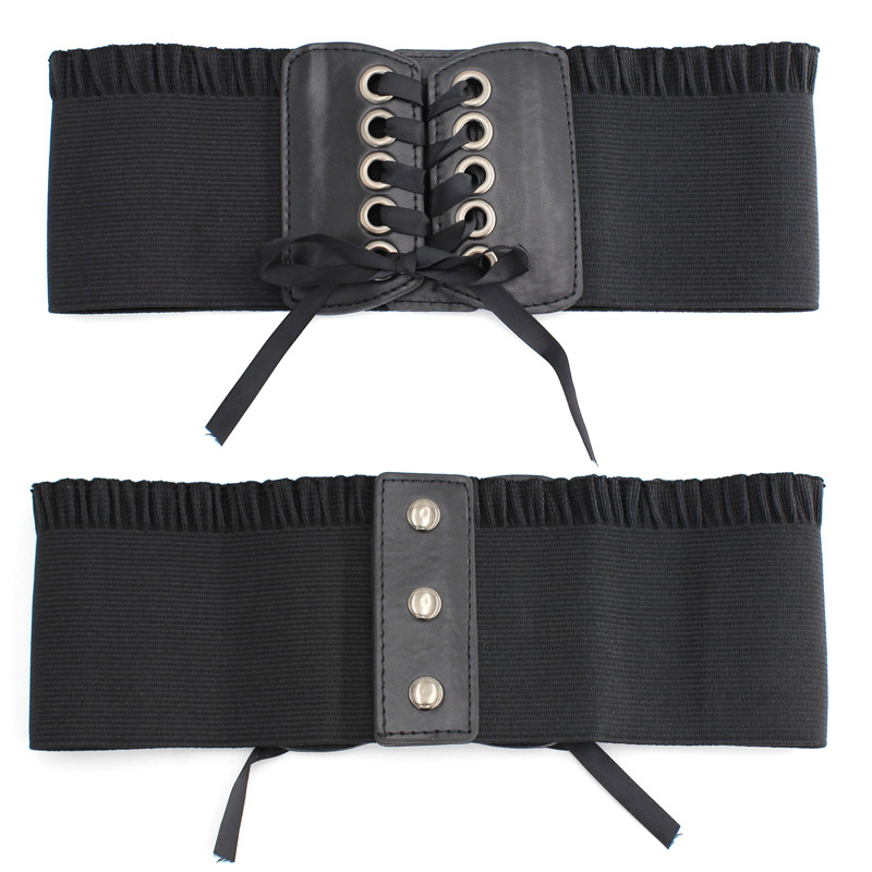 Female Shapewear Waist Fashion High-elastic Super Wide Strap  Slimming Shaper Corset Bow-knot Waistband Cummerbund