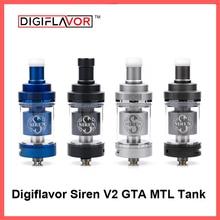 Digiflavor Siren V2 GTA MTL Танк 24 версии 4,5 мл Genisis танк распылитель 24 мм обновление сирена 25 DF сирена 2 распылитель
