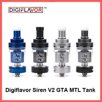 Digiflavor sirena V2 GTA MTL tanque 24 versión 4,5 ml tanque Genisis atomizador 24mm actualización sirena 25 DF sirena 2 atomizador