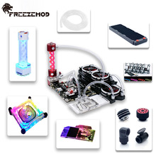 Freezemod Water Cooler Kit Zachte Buis Mod Set Cpu Gpu Combo 360Mm Radiator Slang Water Koelsysteem Bundel Voor intel/Amd Kit