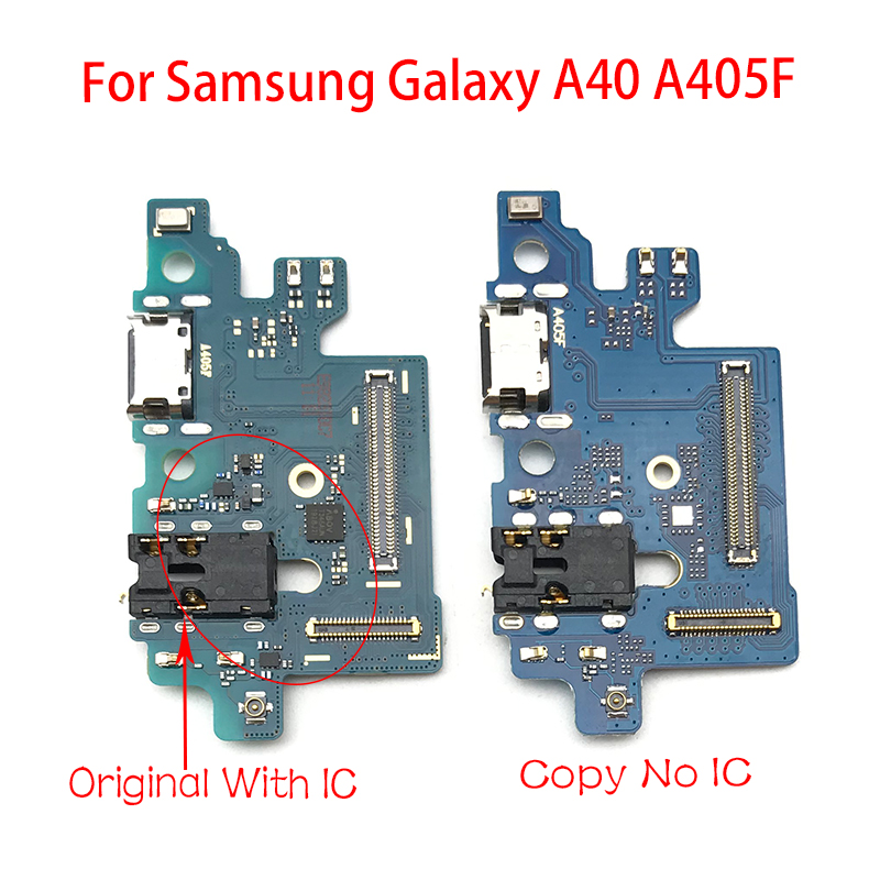 Charger Board PCB Flex For Samsung Galaxy A405F A40 A405 USB Port Connector Dock Charging Ribbon Cable