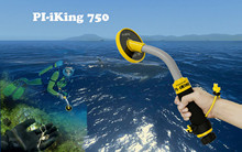 Точечный металлоискатель Pi iking 750, 30 м, водонепроницаемый подводный металлодетектор с вибрацией и импульсной индукцией (PI)