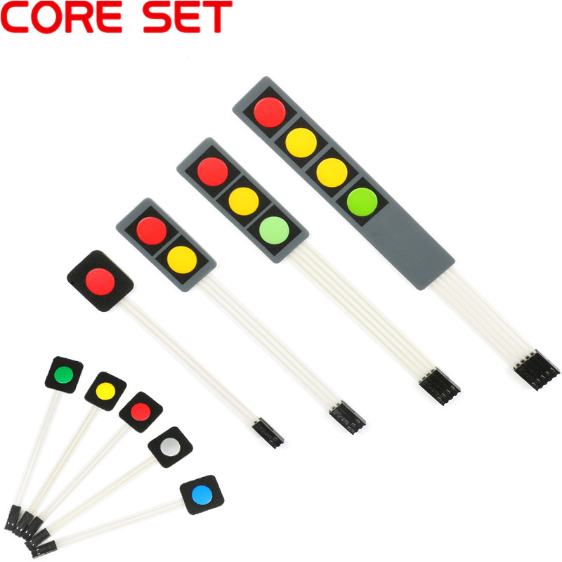 Мембранный переключатель, 1 2 3 4 кнопки, Матрица клавиатуры, панель управления клавиатурой, набор для Arduino