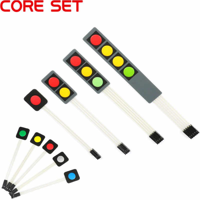 1 2 3 4 Tombol Kunci Membran Switch Matrix Array Keyboard Keypad Panel Kontrol Pad DIY Kit UNTUK ARDUINO