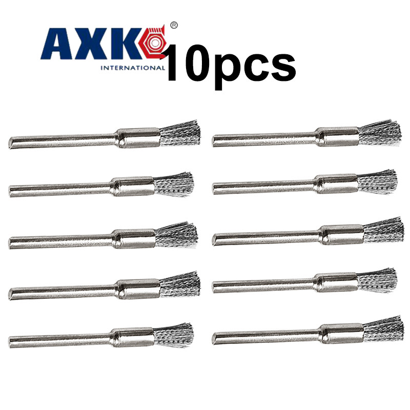 10pcs Steel Wire Dril Brushes Dremel Accessories Polishing Brush Dremel Tools Accessories For Mini Drill Burr Brushed Wheel DT