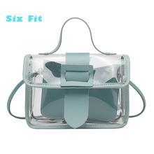 2020 желе прозрачный мешок пакет квадрат супер цепи Crossbody сумки для женщин письмо портмоне мобильный телефон сумка сумки кошелек bolsos