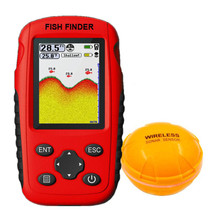 Rechargeable Handheld Wireless Sonar for fishing 45M water depth echo sounder fishing