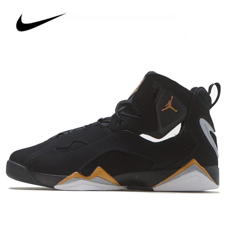 Nike Air Jordan 7 True Flight (GS) Men's Jordan Shoes Basketball Lace-up Gym Training Boots Sport Women Sneaker 343795-070