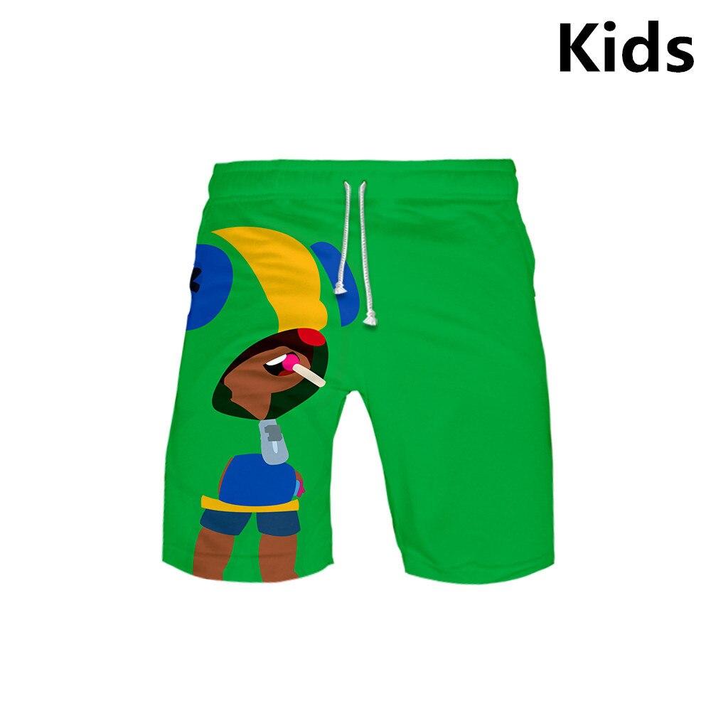3 To 13 Years Kids Board Shorts 3D Shooting Game Trunks Summer Beach Swiming Shorts Boys Hip Hop Short Pants Teen Beach Clothes