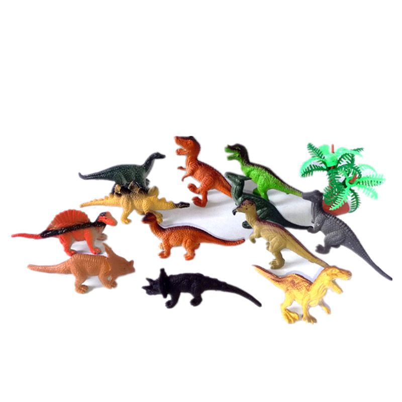 12 Pcs Mini Dinosaur Play Set, Assorted Realistic Small Dinosaur Figure Model