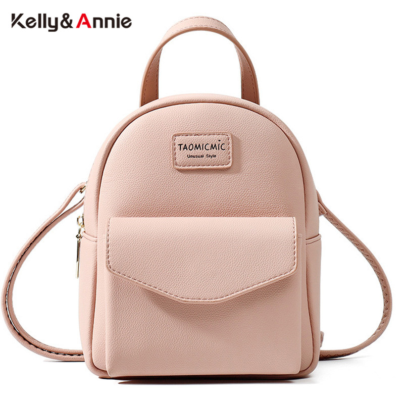 Multi-Function Women Backpack Fashion Ladies Shoulder Bag Brand Designer Soft Touch Leather Small Backpack Female Mini Bags Girl