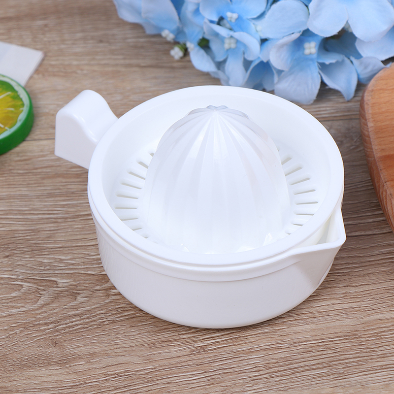 Squeezer with Bowl Juicer Strainer with Handle and Pour Spout White