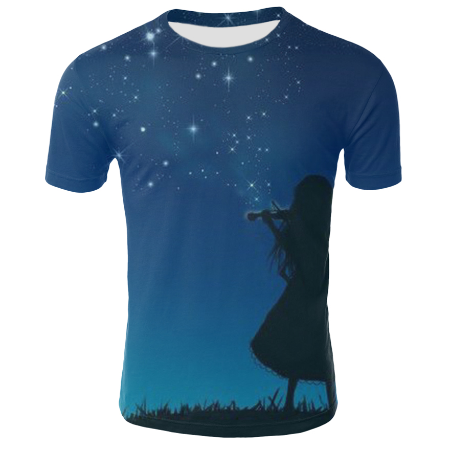 3d Tshirt Galaxy Space T Shirt Men Nebula Tshirt Printed Lightning Shirt Print Colorful T-shirts 3d Psychedelic Tshirts Casual