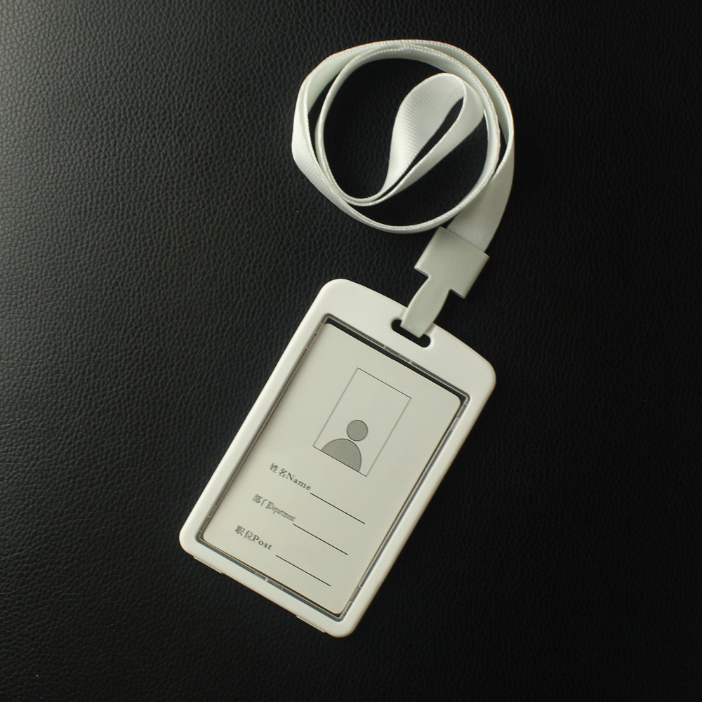 Many Different Colours Plastic Id Card Holder With Lanyard