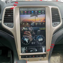 13,6 zoll Android 9 PX6 4 + 128GB Tesla Mit DSP Carplay Auto Multimedia-Player Für Jeep Grand Cherokee 2010 - 2019 GPS Navigation