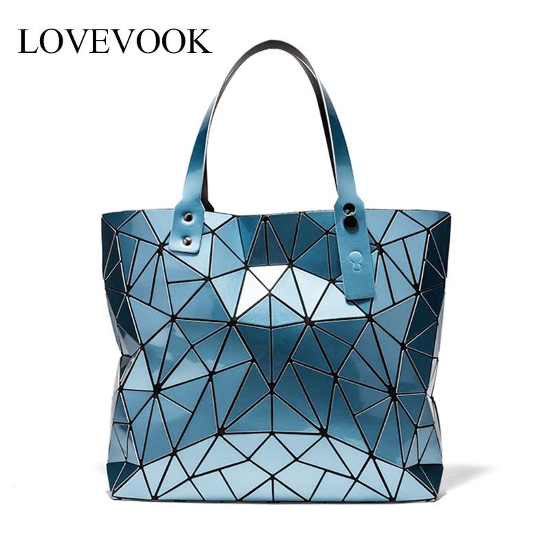 Lovevook Women Handbags Luxury Bags Designer Fashion Shoulder Bags For Ladies 2019 Large Tote Bags For Work Geometric Pattern