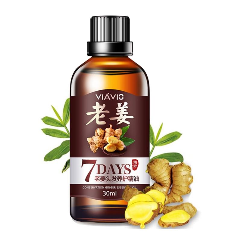 30 мл имбирь зародышевый Сыворотки масло для ухода за волосами эфирные масла для ухода за волосами головы против выпадения волос жидкость дл...