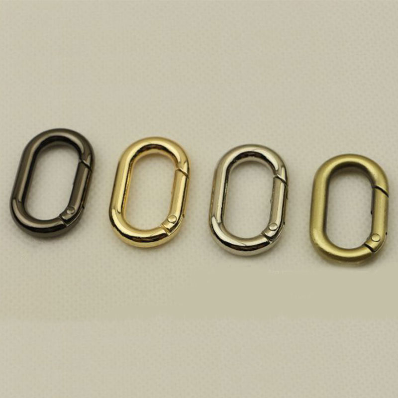High Quality Metal Oval Leather Bag Belt Buckle 4 Color Clasps For Bags Open Easy Bag Chain Snap Luggage Hardware Accessories
