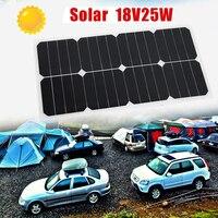 18V 25W Solar Panel Solar Power Panel Flexible Boat Solar Energy Battery Panel For Outdoor Activity Solar Panels for Motorhome