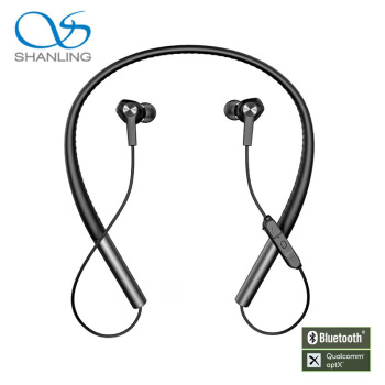 SHANLING MW100 HIFI Audio Graphene Driver Bluetooth Wireless Earphone Liquid Silicon Neckband support Apt-X Fast Charge