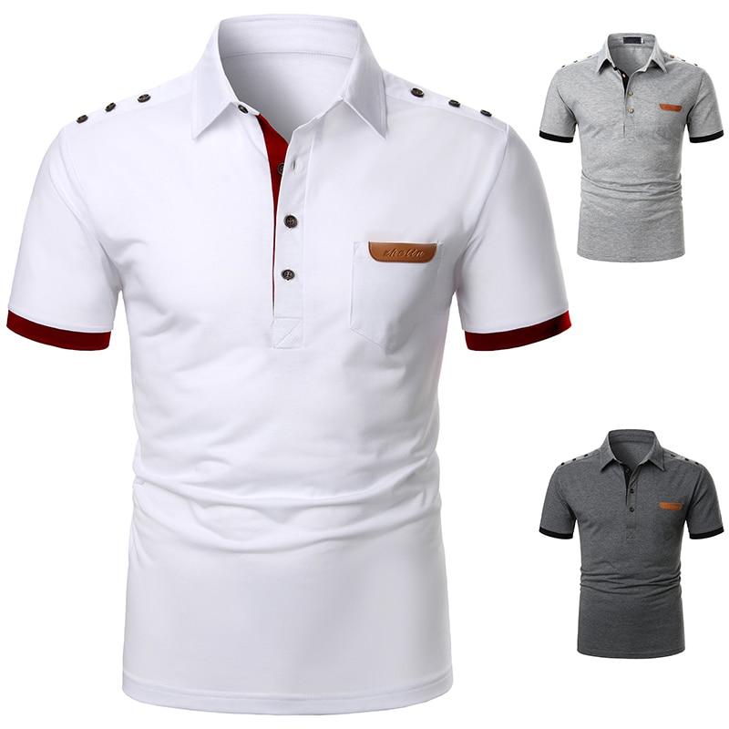 Men Polo Men Shirt Short Sleeve Polo Shirt Contrast Color Polo New Clothing Summer Streetwear Casual Fashion Men tops 5