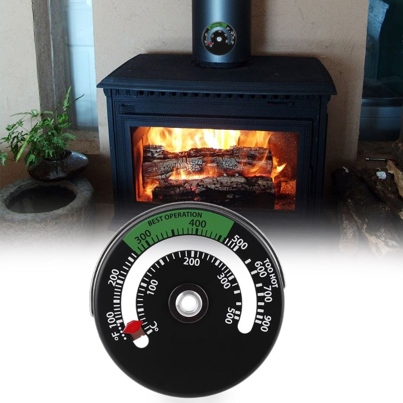 Magnetic Fireplace Stove Thermometer Fire Place Temperature Monitor Increase Efficiency and Optimise Fuel Consumption
