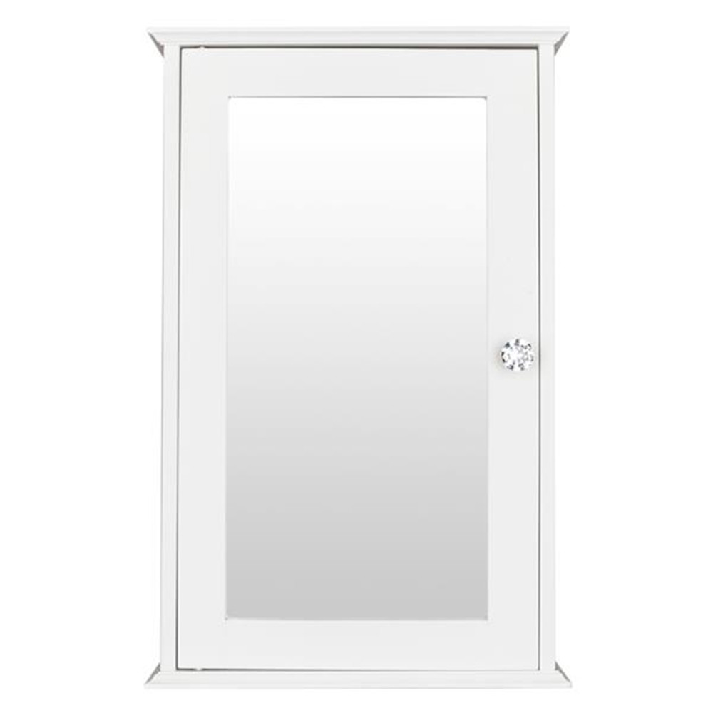 Single Door Mirror Indoor Bathroom Wall Mounted Cabinet Shelf White For Bathroom Cabinet Box