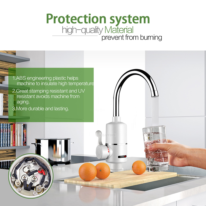 3000w  Water Heater Bathroom Faucet Kitchen Faucet Water Heater Tap One Second That Is Out Of Hot Water