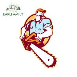 EARLFAMILY 13cm x 8.2cm for Lumberjack Tree Surgeon Arborist Chainsaw Graffiti Sticker Personality Creative Car Stickers Decal