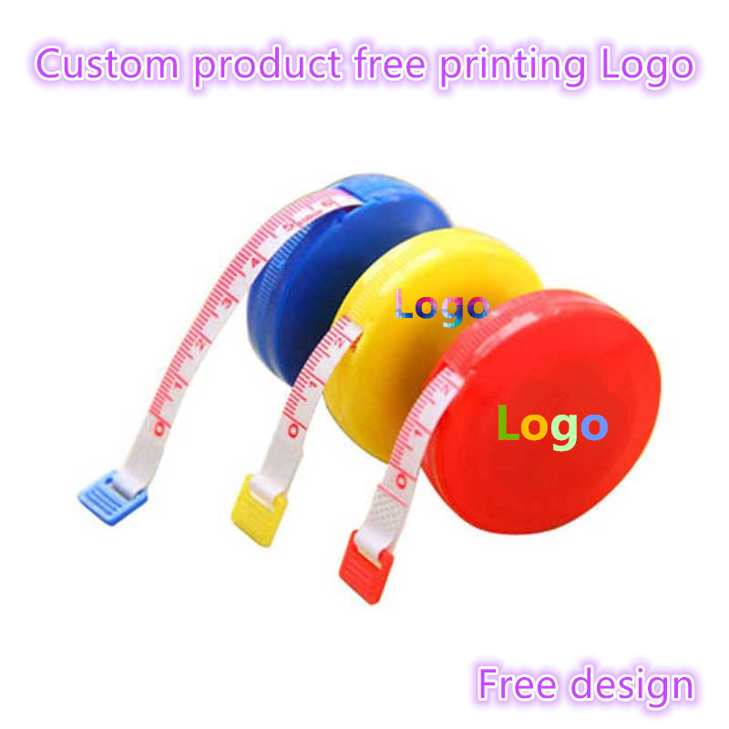 100pcs Customize Products Free Print Logo 1.5M 60 Inch Soft And Retractable Tape Cloth Sewing Tailor Crafts Ruler Tape