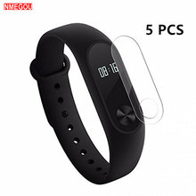 5Pcs Clear Screen Protectors Film Shield Guard Voor Xiaomi Mi Band 2 Voor Xiomi Xaomi Miband Ik Band 2 band2 Smart Horloge Armband(China)