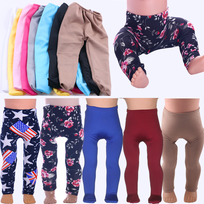 Doll Leggings Daily Clothes Doll Accessories For 18-Inch American Doll & 43 Cm New Born Baby Doll, Our Generation,Toys For Girls
